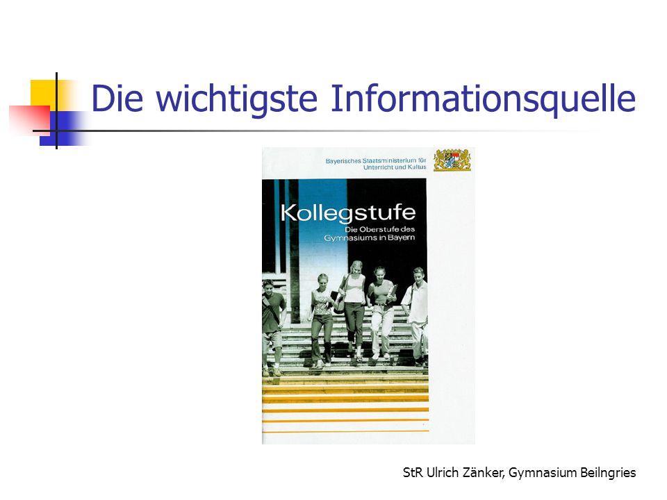 StR Ulrich Zänker, Gymnasium Beilngries Belegen und Einbringen (2) Einbringungsverpflichtung 22 Halbjahresleistungen müssen bzw.