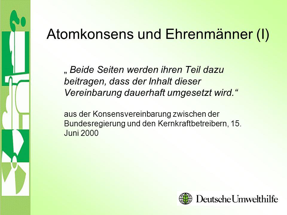 """Atomkonsens und Ehrenmänner (I) """" Beide Seiten werden ihren Teil dazu beitragen, dass der Inhalt dieser Vereinbarung dauerhaft umgesetzt wird."""" aus de"""