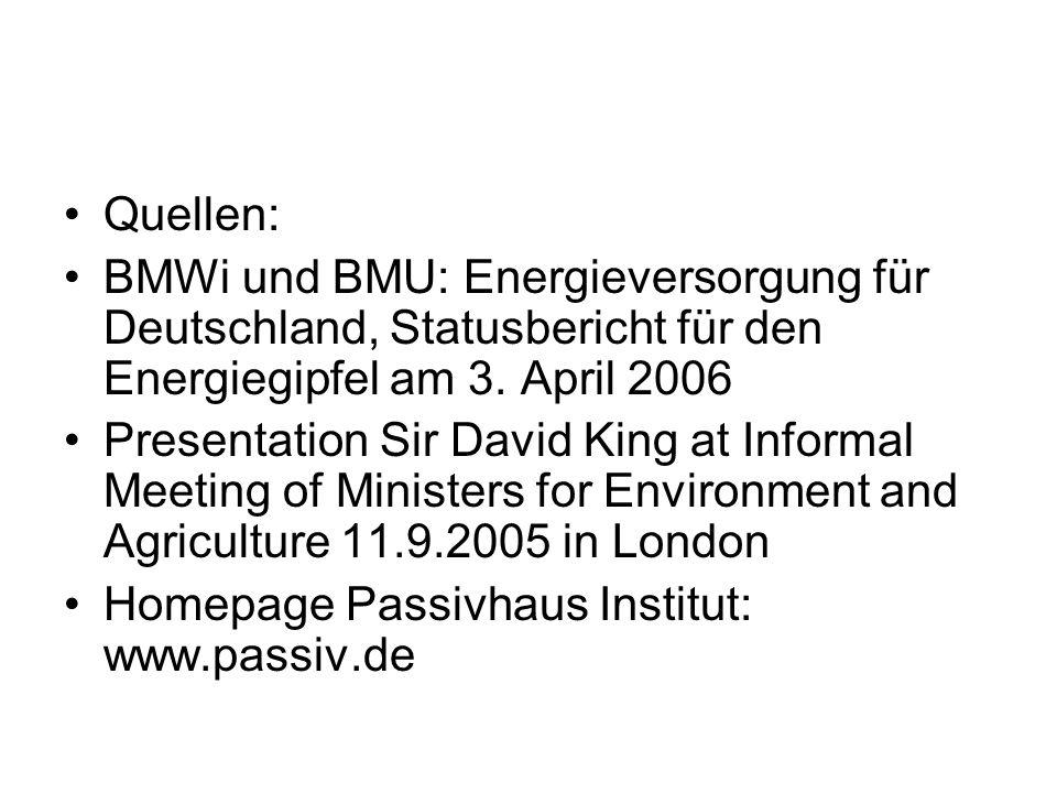 Quellen: BMWi und BMU: Energieversorgung für Deutschland, Statusbericht für den Energiegipfel am 3.