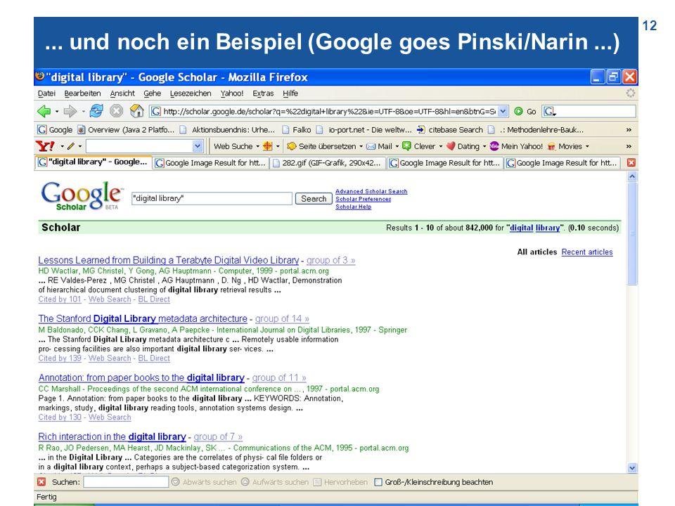 12... und noch ein Beispiel (Google goes Pinski/Narin...)