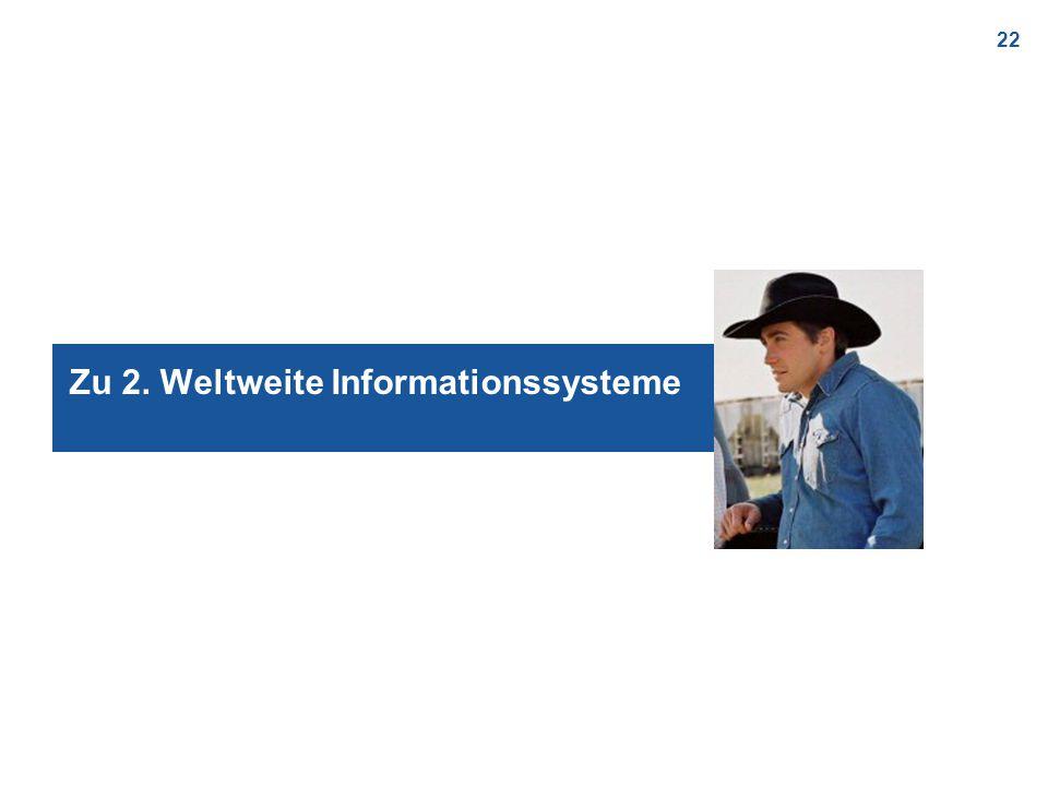 22 Zu 2. Weltweite Informationssysteme