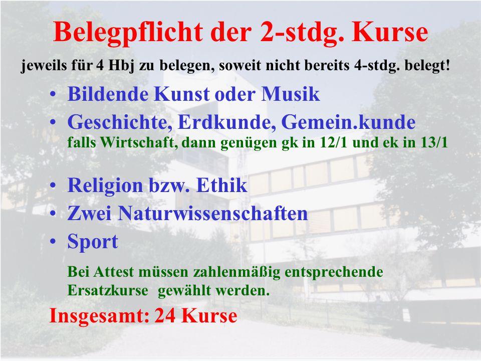Klassenarbeiten 4-stdg.Kurse:mind. 2KA/Hbj; im 4.Hbj mind.