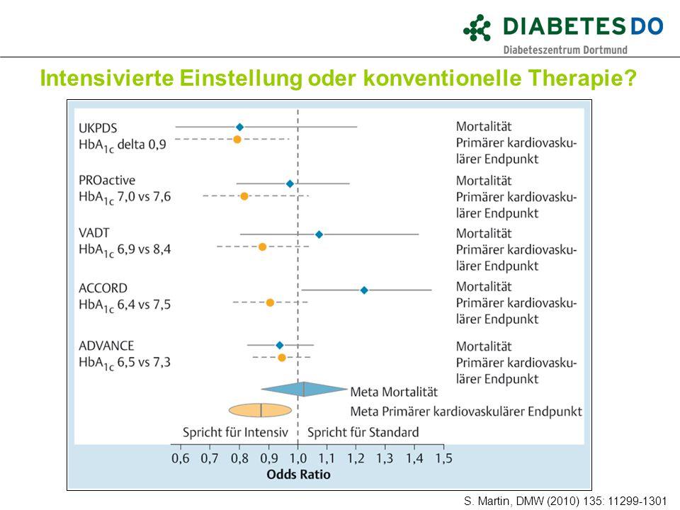 Intensivierte Einstellung oder konventionelle Therapie? Was ist gesichert? S. Martin, DMW (2010) 135: 11299-1301