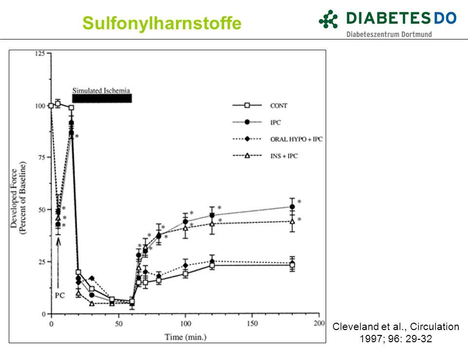 Sulfonylharnstoffe Cleveland et al., Circulation 1997; 96: 29-32