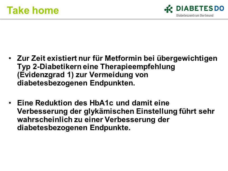 Zur Zeit existiert nur für Metformin bei übergewichtigen Typ 2-Diabetikern eine Therapieempfehlung (Evidenzgrad 1) zur Vermeidung von diabetesbezogene