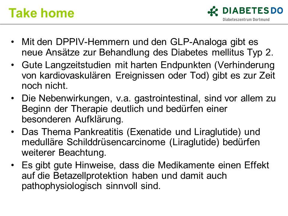 Mit den DPPIV-Hemmern und den GLP-Analoga gibt es neue Ansätze zur Behandlung des Diabetes mellitus Typ 2. Gute Langzeitstudien mit harten Endpunkten