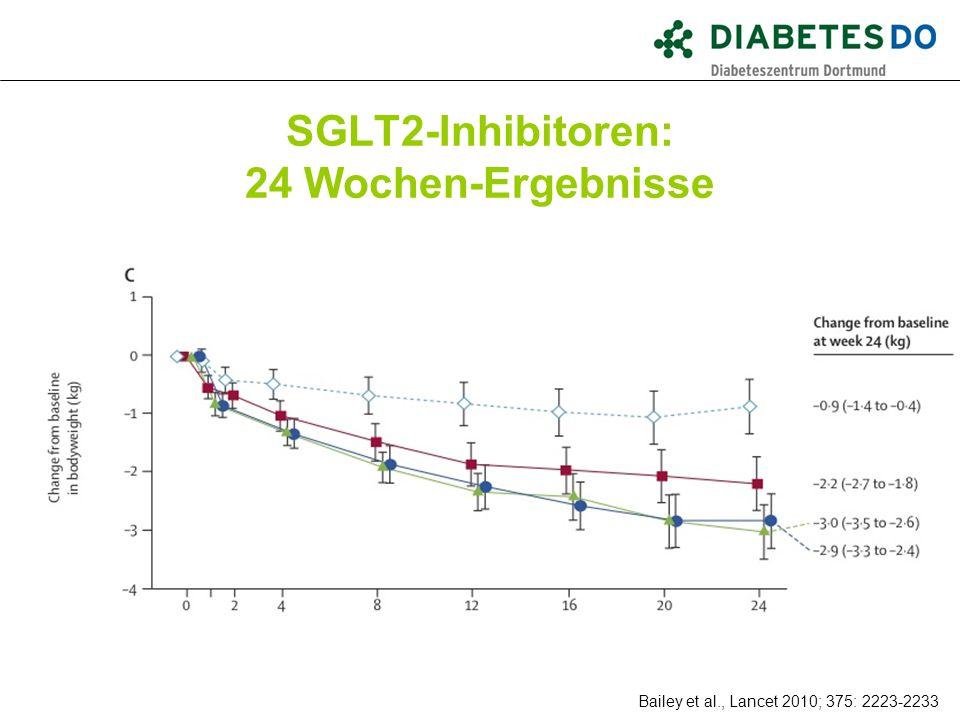 SGLT2-Inhibitoren: 24 Wochen-Ergebnisse Was ist gesichert? Bailey et al., Lancet 2010; 375: 2223-2233