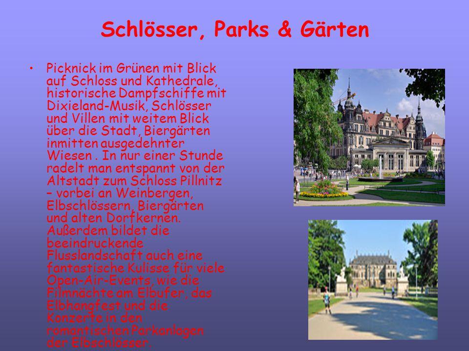 Schlösser, Parks & Gärten Picknick im Grünen mit Blick auf Schloss und Kathedrale, historische Dampfschiffe mit Dixieland-Musik, Schlösser und Villen