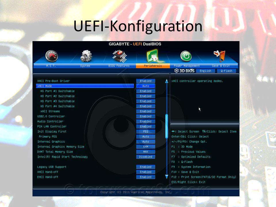 UEFI-Konfiguration
