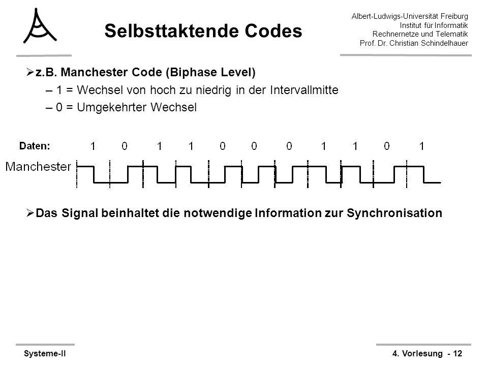 Albert-Ludwigs-Universität Freiburg Institut für Informatik Rechnernetze und Telematik Prof. Dr. Christian Schindelhauer Systeme-II4. Vorlesung - 12 S