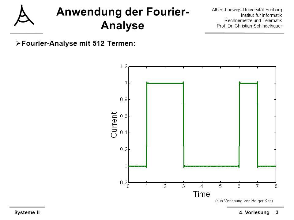 Albert-Ludwigs-Universität Freiburg Institut für Informatik Rechnernetze und Telematik Prof. Dr. Christian Schindelhauer Systeme-II4. Vorlesung - 3 An