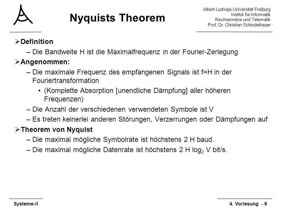 Albert-Ludwigs-Universität Freiburg Institut für Informatik Rechnernetze und Telematik Prof. Dr. Christian Schindelhauer Systeme-II4. Vorlesung - 6 Ny
