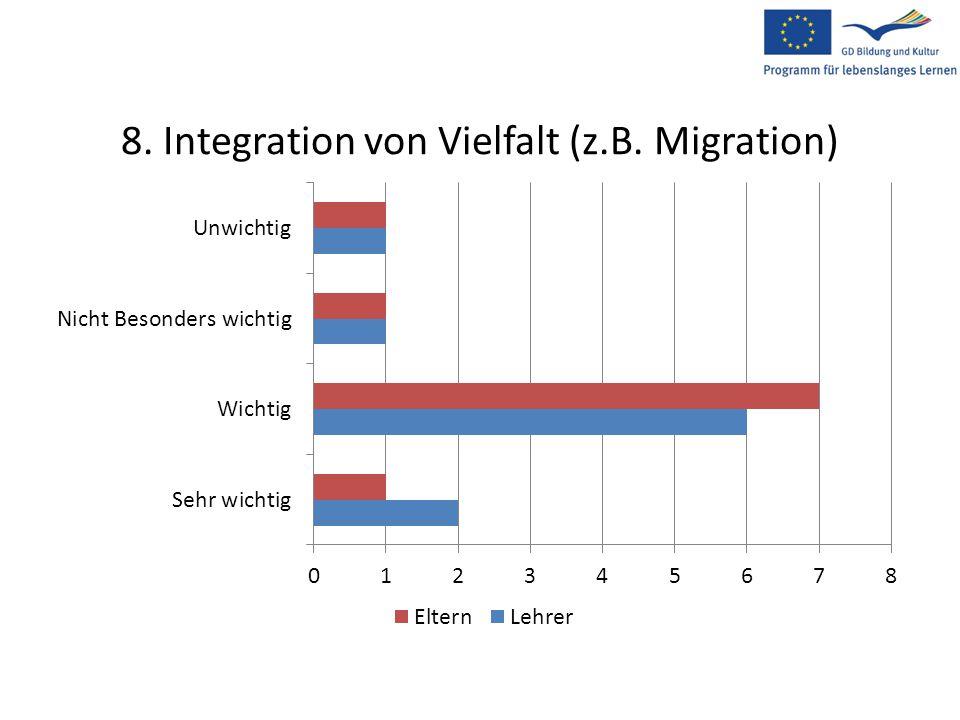 8. Integration von Vielfalt (z.B. Migration)