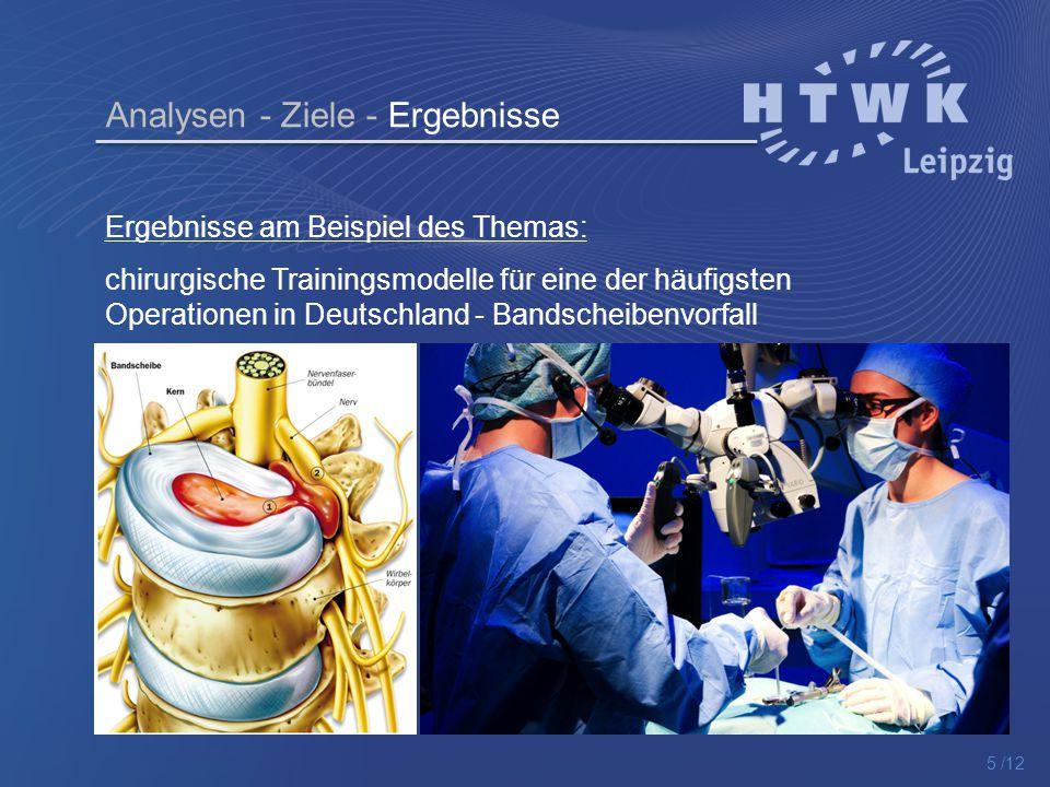 Ergebnisse am Beispiel des Themas: chirurgische Trainingsmodelle für eine der häufigsten Operationen in Deutschland - Bandscheibenvorfall Analysen - Z