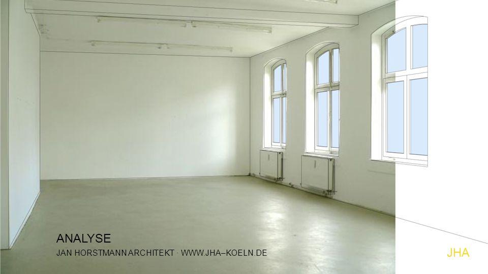 JHA JAN HORSTMANN ARCHITEKT · WWW.JHA–KOELN.DE ANALYSE