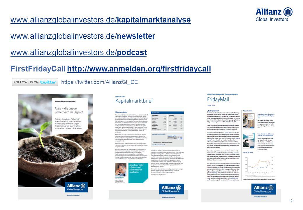 12 www.allianzglobalinvestors.de/kapitalmarktanalyse www.allianzglobalinvestors.de/newsletter www.allianzglobalinvestors.de/podcast FirstFridayCall ht