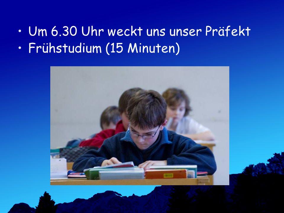Frühstudium (15 Minuten)
