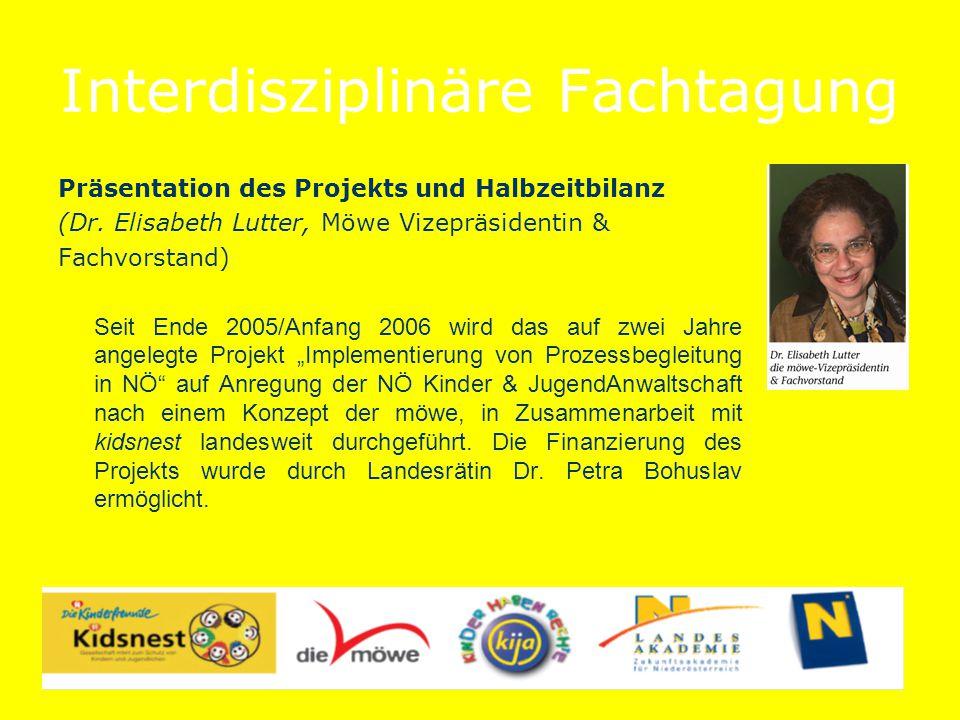 Interdisziplinäre Fachtagung Präsentation des Projekts und Halbzeitbilanz (Dr.