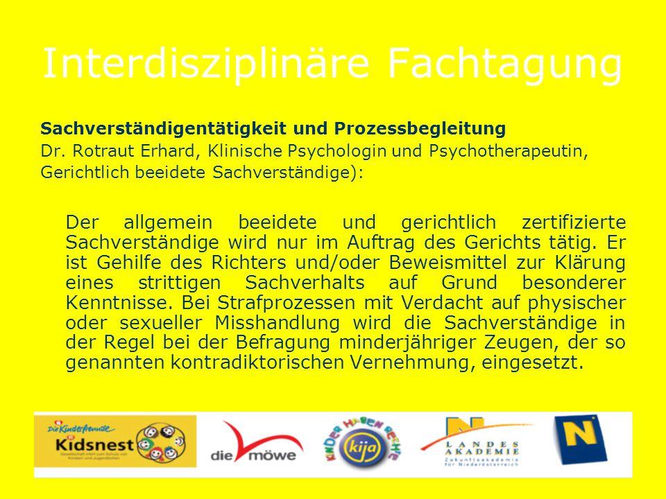 Interdisziplinäre Fachtagung Zusammenarbeit von Polizei, Kriminalpolizei und Prozessbegleitung BezInsp.