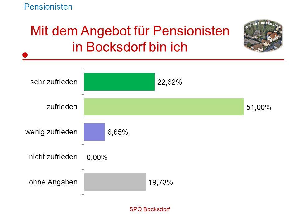SPÖ Bocksdorf Pensionisten Mit dem Angebot für Pensionisten in Bocksdorf bin ich