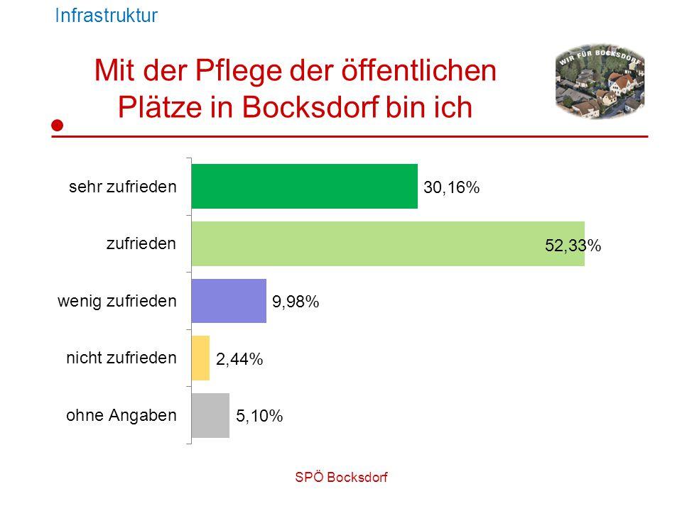 SPÖ Bocksdorf Mit der Pflege der öffentlichen Plätze in Bocksdorf bin ich Infrastruktur