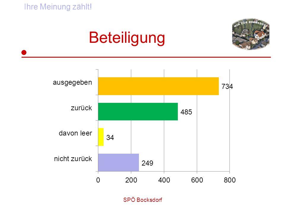 SPÖ Bocksdorf Beteiligung Ihre Meinung zählt!