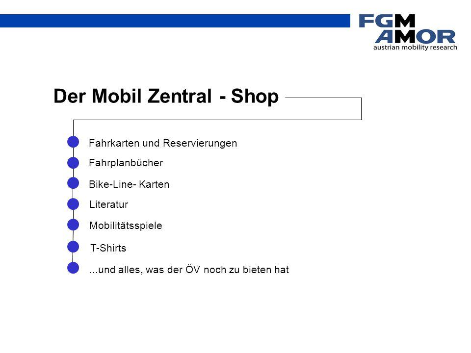 Der Mobil Zentral - Shop Bike-Line- Karten Mobilitätsspiele Literatur Fahrkarten und Reservierungen Fahrplanbücher T-Shirts...und alles, was der ÖV no