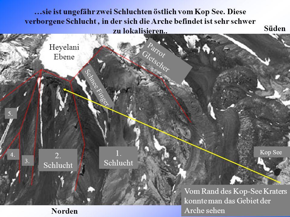Hufeisenförmige Felsmulde Das Gebiet, in der die Arche gesehen wurde In der 2. Schlucht