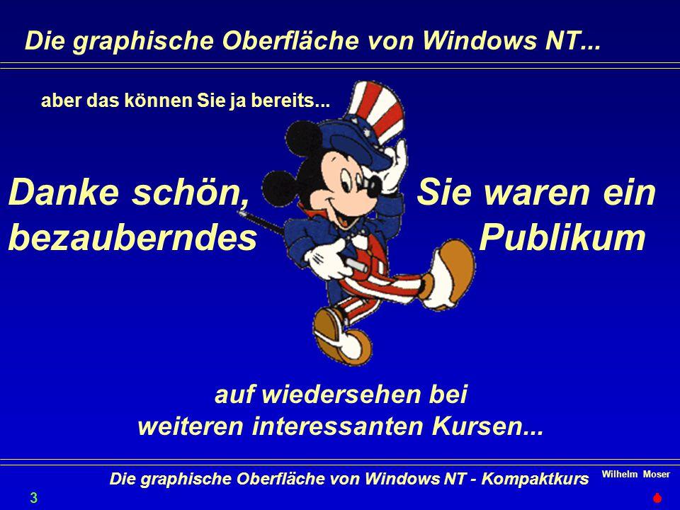 Wilhelm Moser 3737 Die graphische Oberfläche von Windows NT - Kompaktkurs Die graphische Oberfläche von Windows NT...