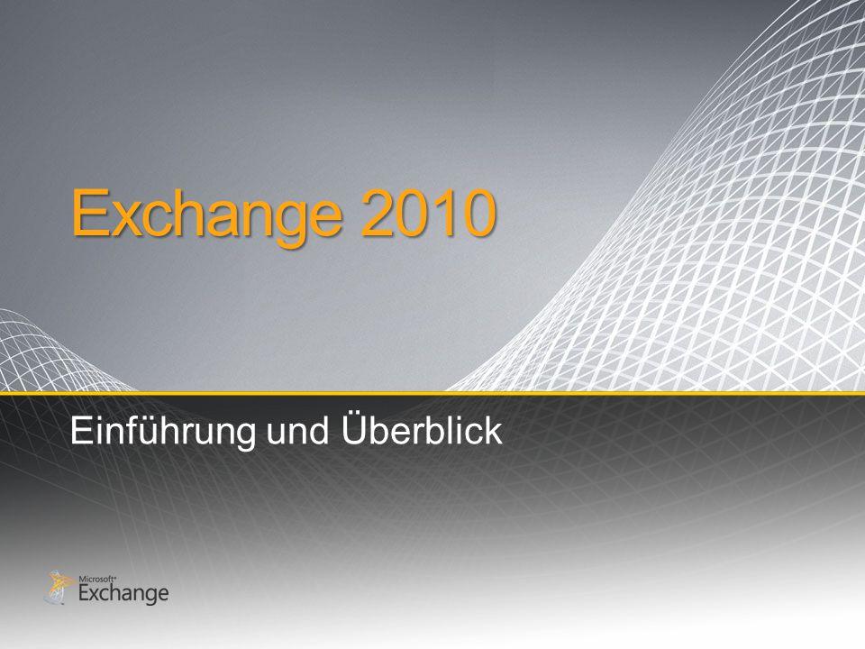 Exchange 2010 Einführung und Überblick