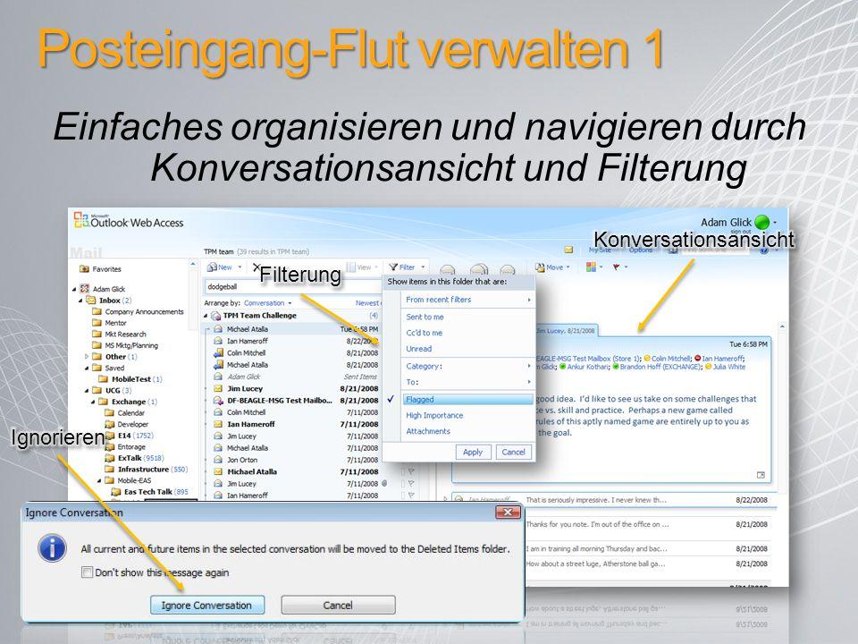 Posteingang-Flut verwalten 1 Einfaches organisieren und navigieren durch Konversationsansicht und Filterung
