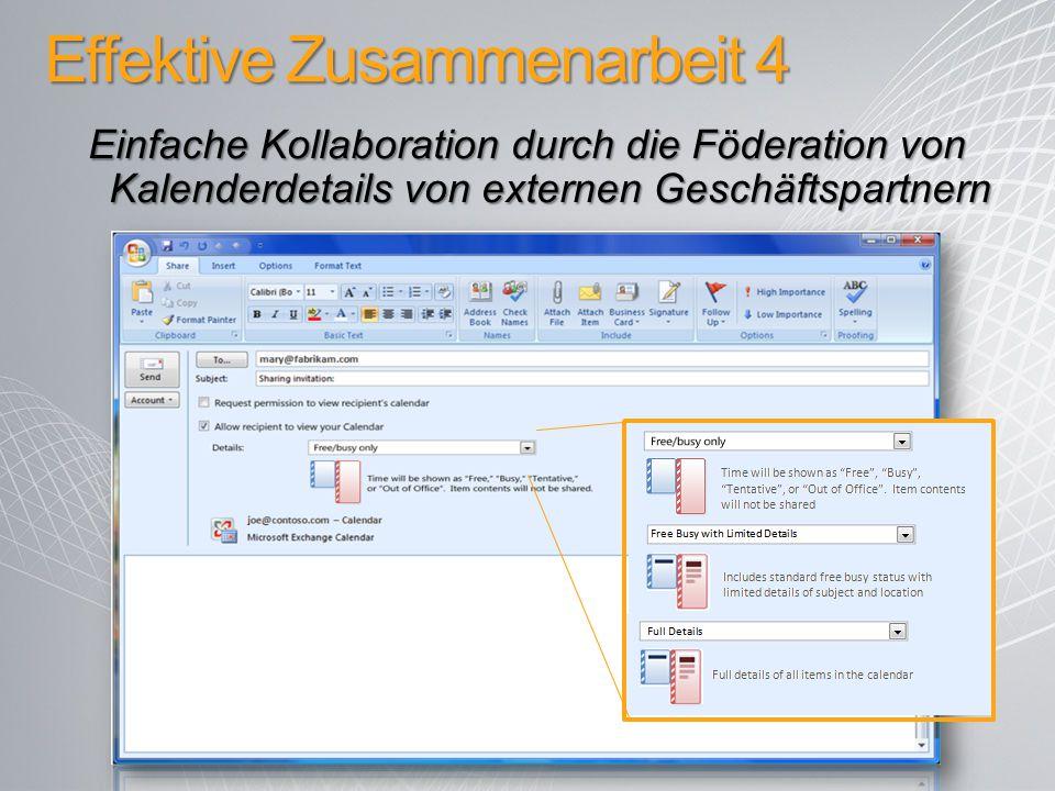 Effektive Zusammenarbeit 4 Einfache Kollaboration durch die Föderation von Kalenderdetails von externen Geschäftspartnern