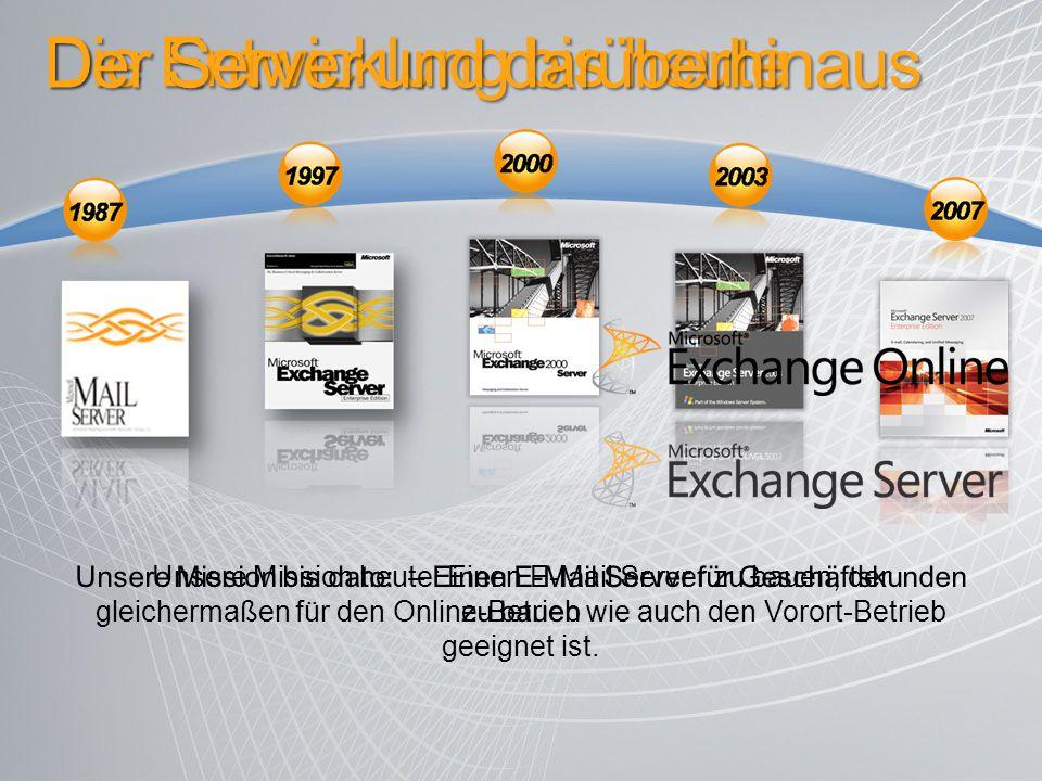 Der Server und darüberhinaus Unsere Mission heute: Einen E-Mail Server zu bauen, der gleichermaßen für den Online-Betrieb wie auch den Vorort-Betrieb