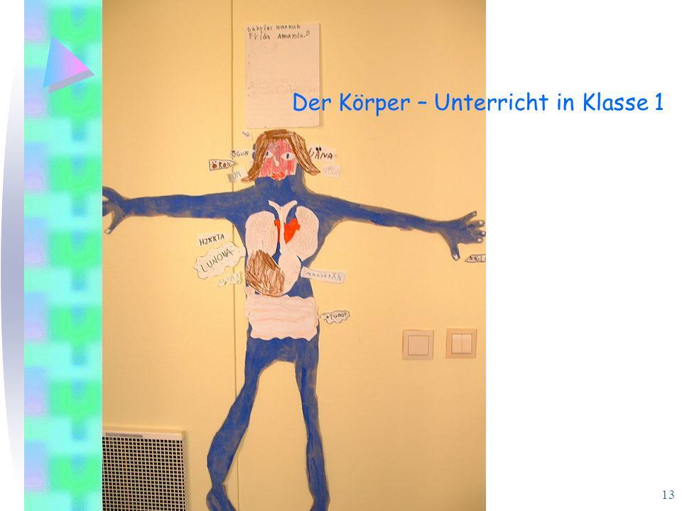 Barbara Berthold/Ursula Carle Universität Bremen 13 Der Körper – Unterricht in Klasse 1