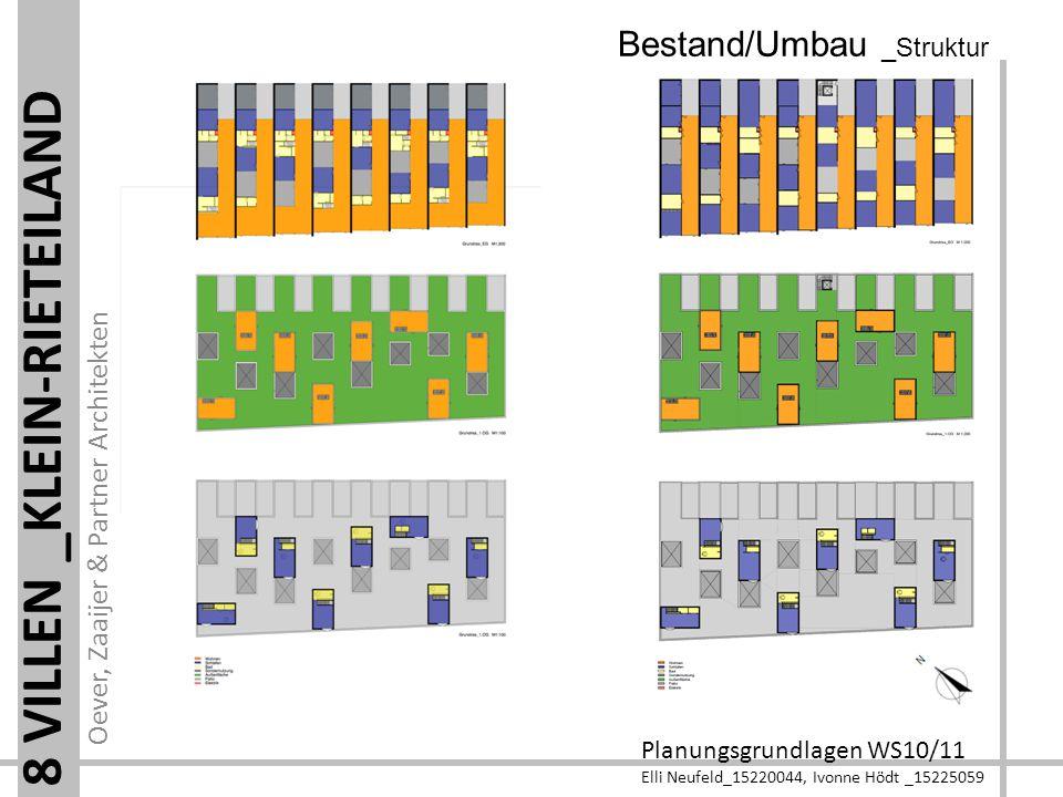 Oever, Zaaijer & Partner Architekten Planungsgrundlagen WS10/11 Elli Neufeld_15220044, Ivonne Hödt _15225059 8 VILLEN _KLEIN-RIETEILAND Bestand/Umbau