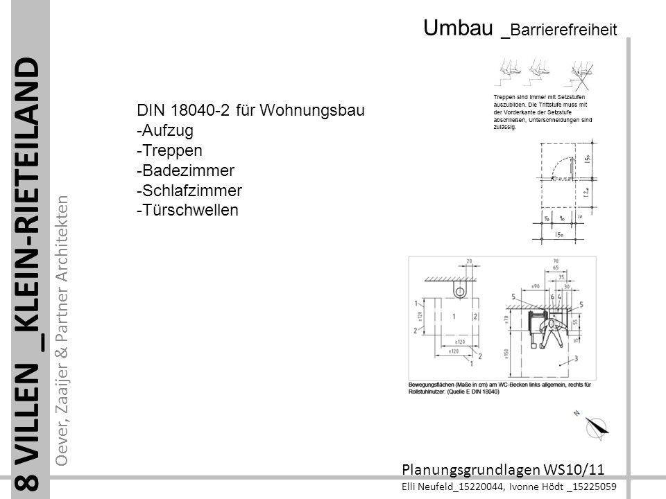 Oever, Zaaijer & Partner Architekten Planungsgrundlagen WS10/11 Elli Neufeld_15220044, Ivonne Hödt _15225059 8 VILLEN _KLEIN-RIETEILAND Umbau _Barrier