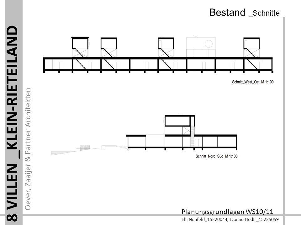 Oever, Zaaijer & Partner Architekten Planungsgrundlagen WS10/11 Elli Neufeld_15220044, Ivonne Hödt _15225059 8 VILLEN _KLEIN-RIETEILAND Bestand _Schni