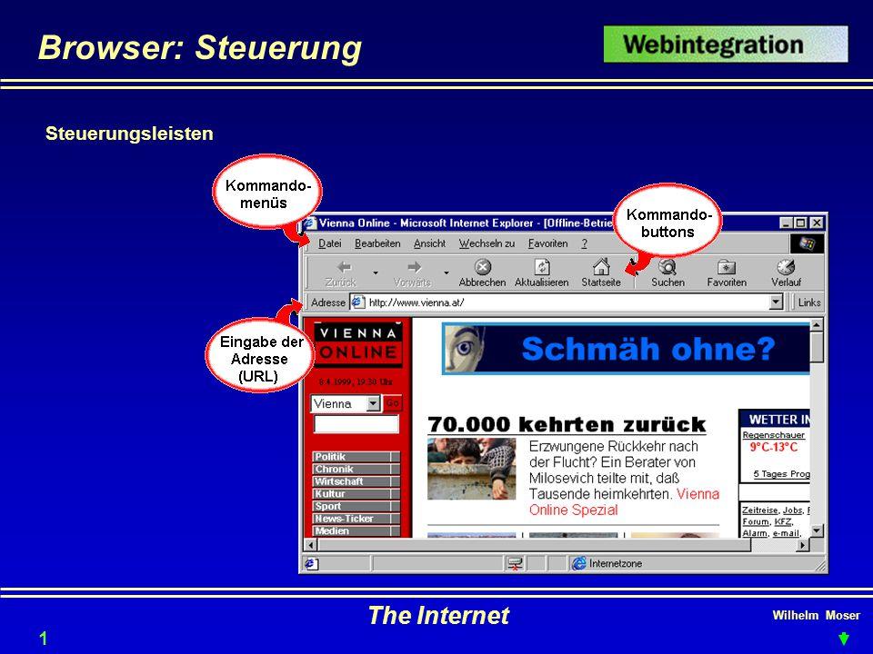 Wilhelm Moser The Internet Browser: Steuerung Steuerungsleisten 15