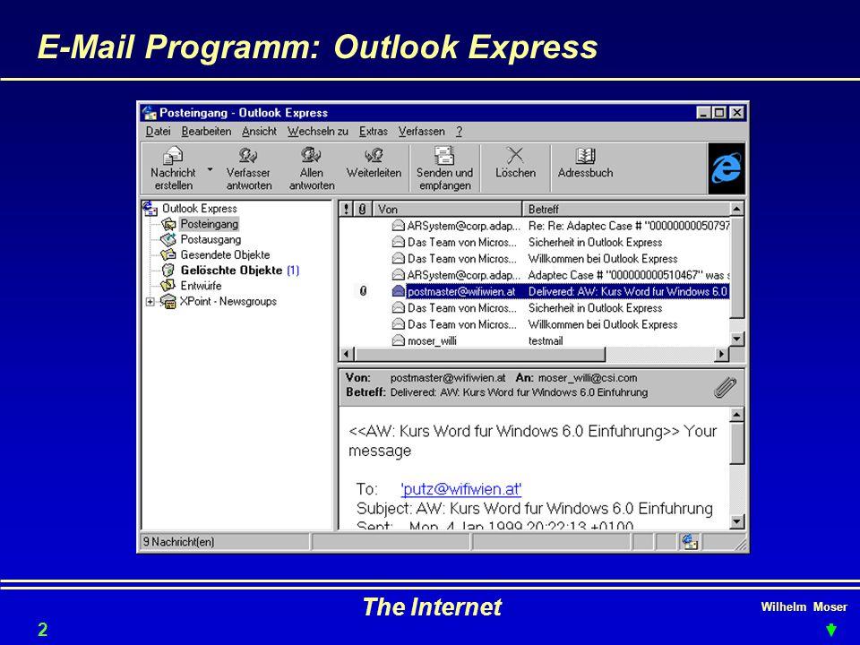 Wilhelm Moser The Internet E-Mail Programm: Outlook Express 27