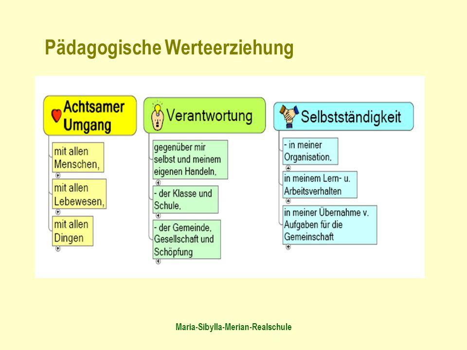 Maria-Sibylla-Merian-Realschule Pädagogische Werteerziehung