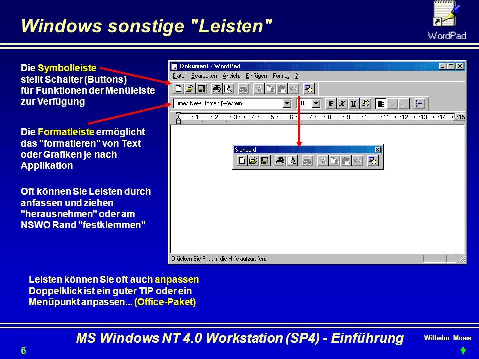 Wilhelm Moser MS Windows NT 4.0 Workstation (SP4) - Einführung Windows sonstige
