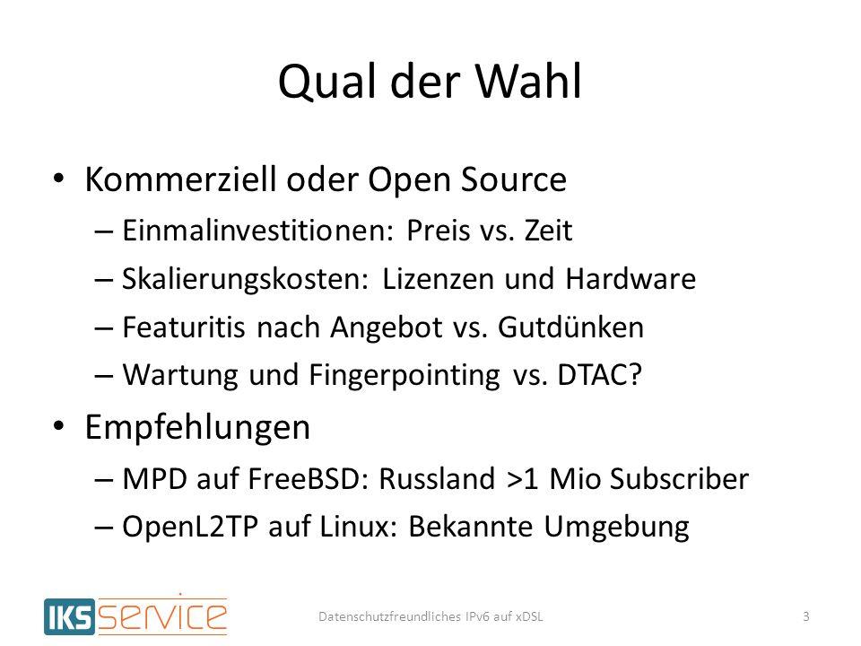 Qual der Wahl Kommerziell oder Open Source – Einmalinvestitionen: Preis vs. Zeit – Skalierungskosten: Lizenzen und Hardware – Featuritis nach Angebot