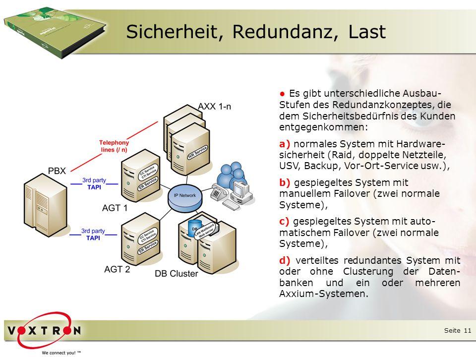 Seite 12 Sicherheit, Redundanz, Last ● Szenario mit maximaler Sicherheit bei einer Großbank.