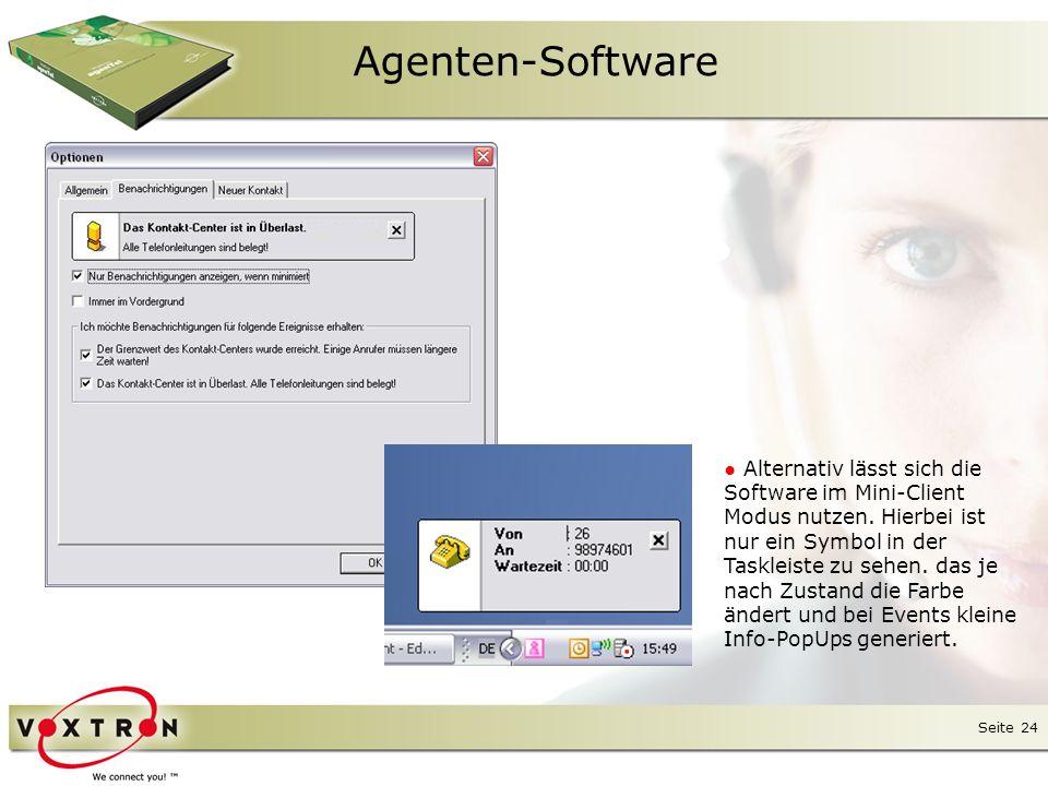 "Seite 25 Agenten-Software ● Standard-Werkzeugleiste ""TAPI-Toolbar ● Programmierbeispiel ""Recent Contact Toolbar ● Programmierbeispiel ""Send Messages Toolbar ● Standard-Werzeugleiste ""Agent-Toolbar"