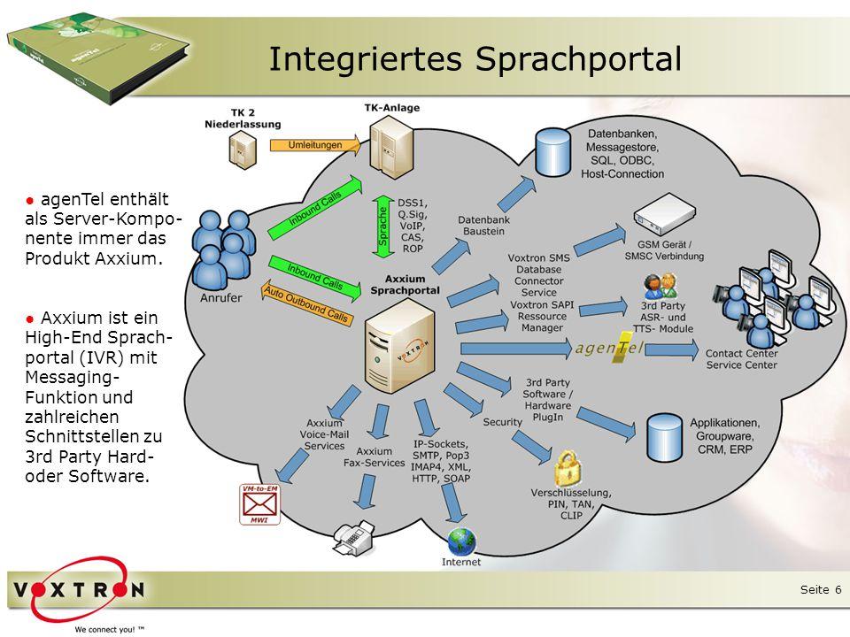 Seite 7 Integriertes Sprachportal ● Anrufabläufe und Sprachdialoge (sog.