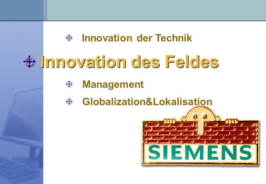 Innovation des Feldes Globalization&Lokalisation Innovation der Technik Management