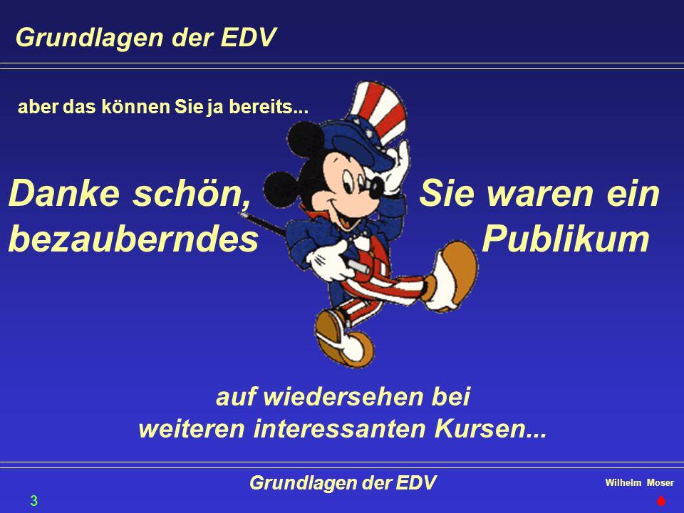Wilhelm Moser Grundlagen der EDV aber das können Sie ja bereits... Sie waren ein Publikum Danke schön, bezauberndes auf wiedersehen bei weiteren inter