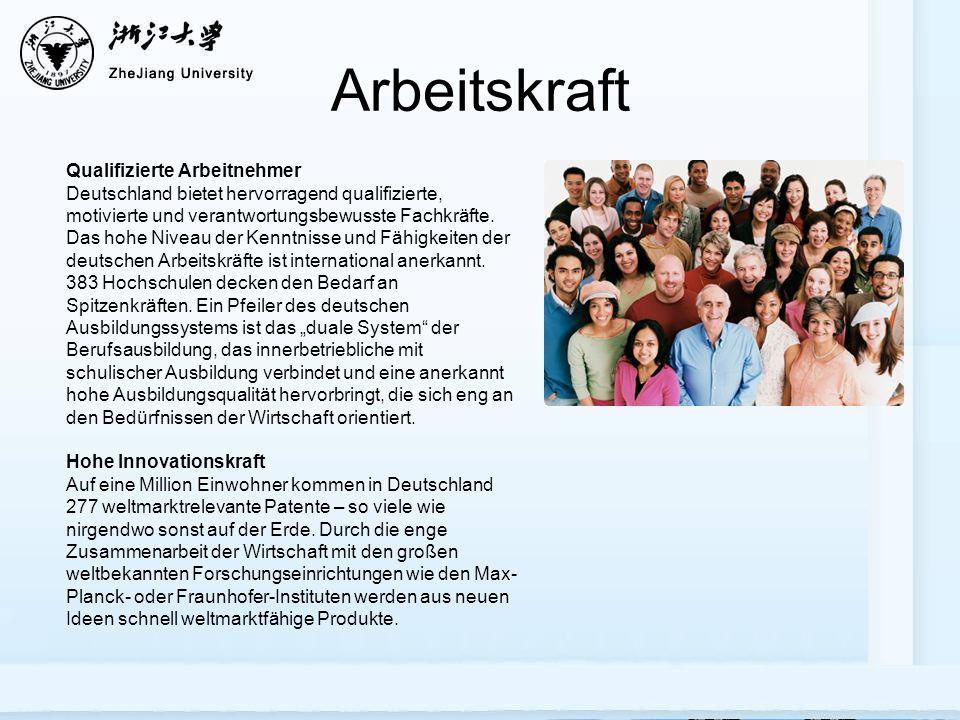 Arbeitskraft Qualifizierte Arbeitnehmer Deutschland bietet hervorragend qualifizierte, motivierte und verantwortungsbewusste Fachkräfte.