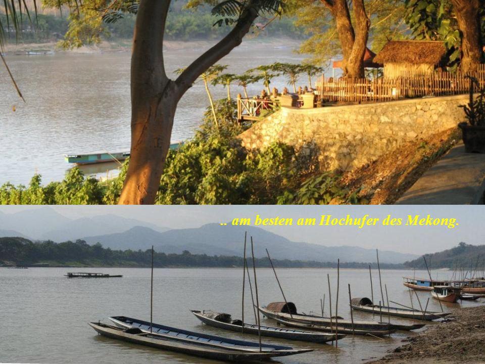 .. am besten am Hochufer des Mekong.