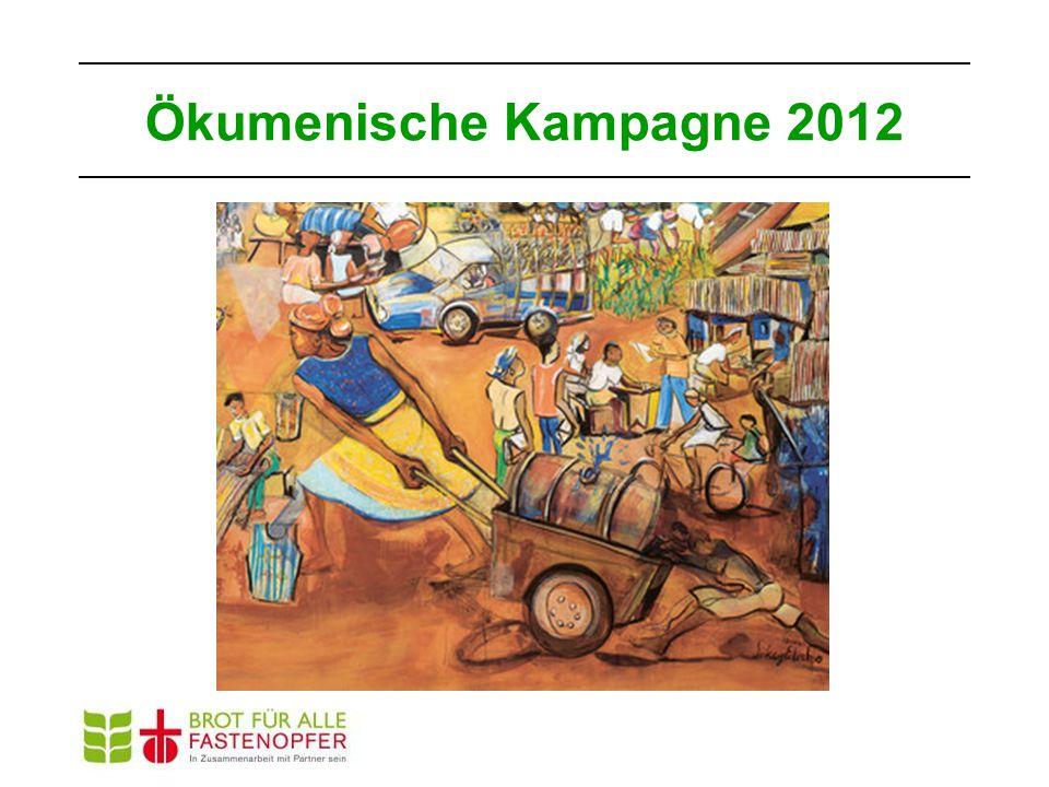 Mehr Gleichberechtigung heisst weniger Hunger Kochen und Essen, Säen und Ernten Der Zusammenhang von Geschlechter- gerechtigkeit und Ernährungssicherheit Ökumenische Kampagne 2012